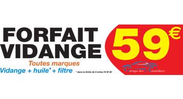 Promotions garage des amandiers for Prix vidange garage